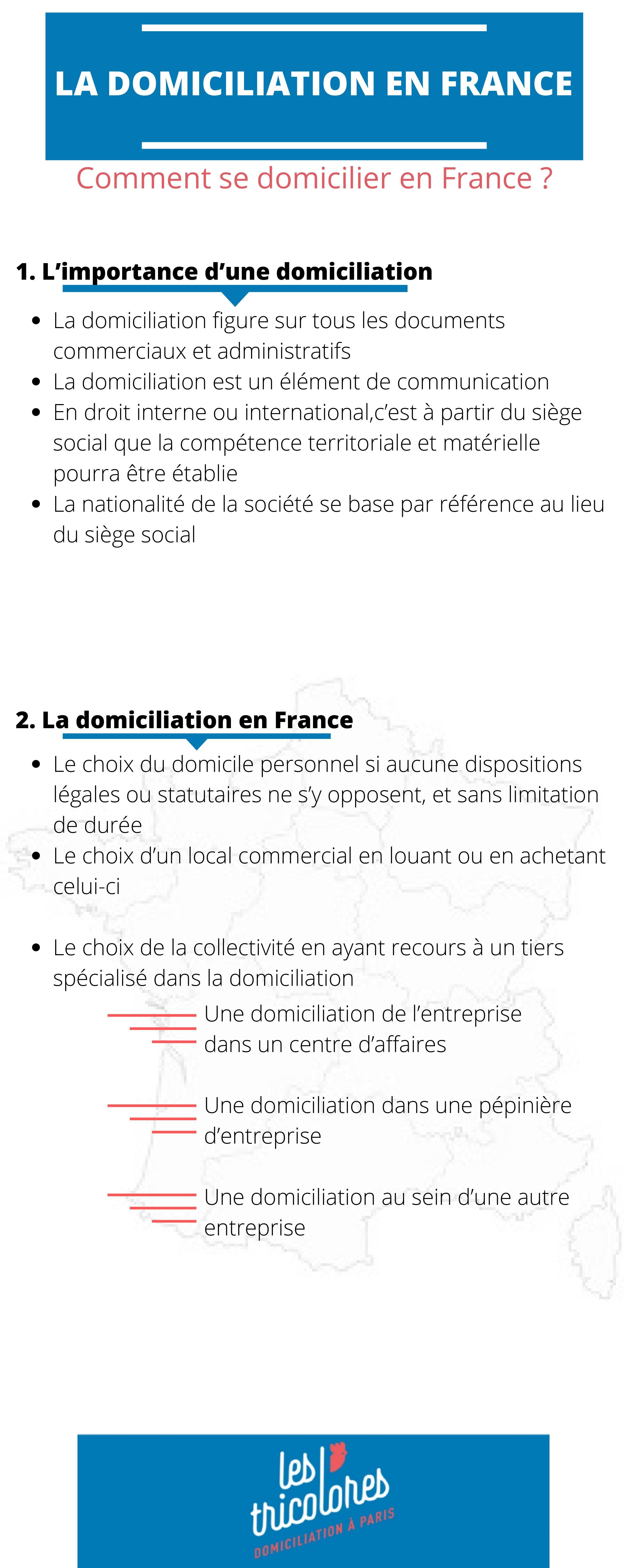 Domiciliation en France : Guide pratique 2020